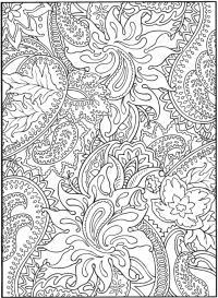 Узоры с цветами и листьями Раскраски для взрослых скачать