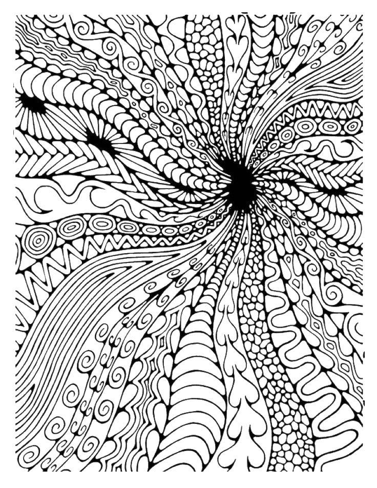 Абстрактный узор Раскраски для взрослых скачать