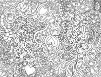 Раскраски много узоров