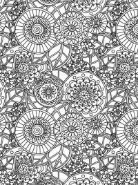 Узоры с цветами Картинки антистресс раскраски
