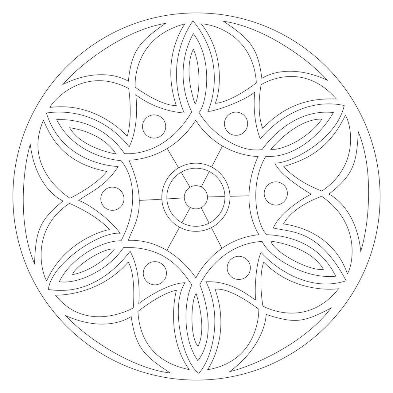 Круглые узоры Раскраски для взрослых антистресс