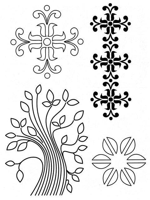 Цветы и деревья Картинки антистресс раскраски
