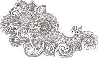 Индийские цветочные узоры Картинки антистресс раскраски