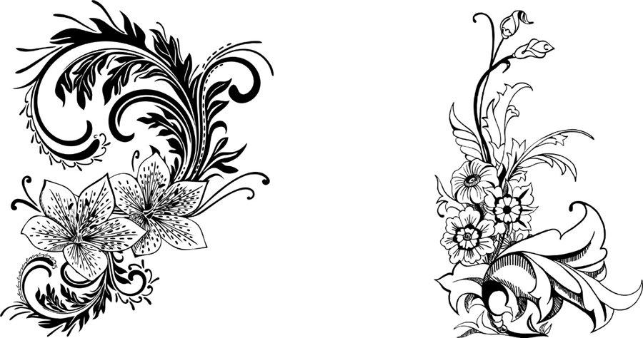 Узоры виде цветов