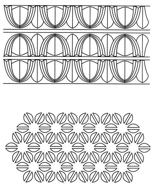 Узор цветы из геометрических фигур Онлайн раскраски в хорошем качестве антистресс