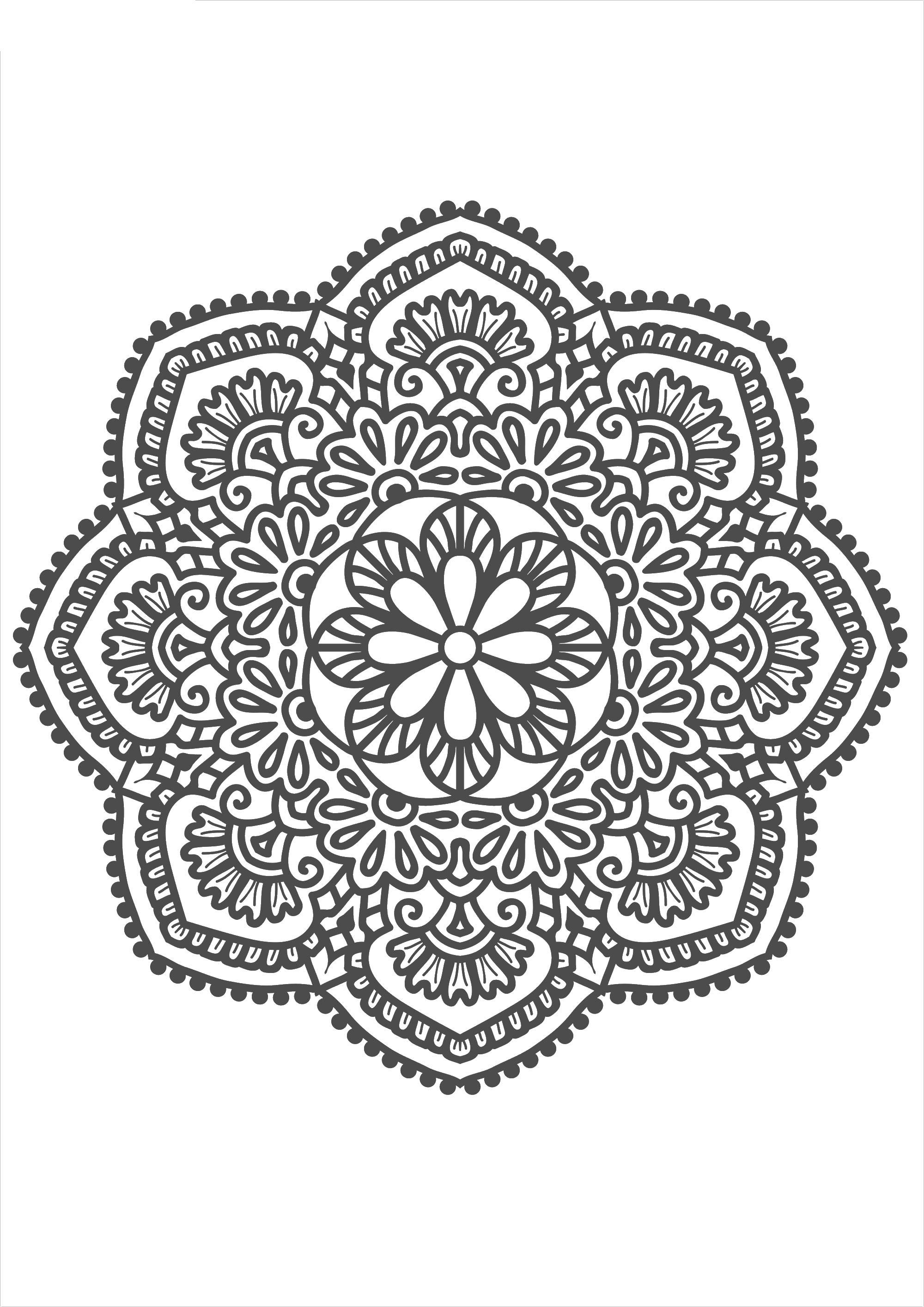 Кружевной узор Раскраски для взрослых антистресс