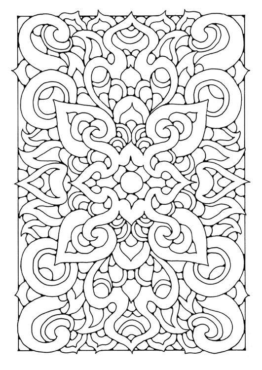 орнамент узор медитативная раскраска