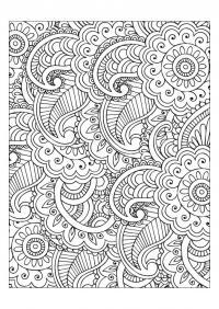 Орнамент для ковров Скачать сложные раскраски