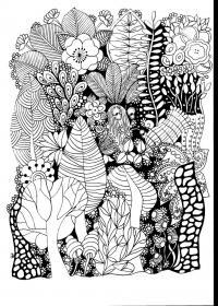 Узор лес Скачать сложные раскраски