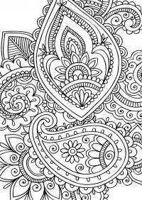 Узоры цветы Картинки антистресс раскраски