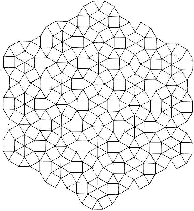 Узор из треугольников и квадратов Раскраски для взрослых антистресс