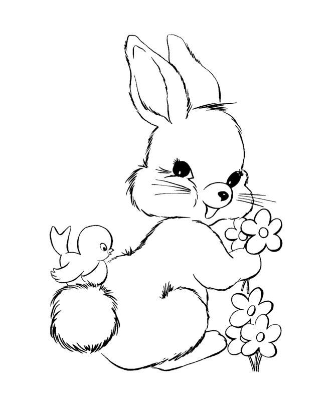 Раскраски для девочек зайчик