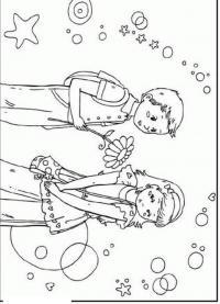 Мальчик и девочка Раскраски для снятия стресса