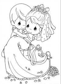 Девочка и мальчик Скачать сложные раскраски