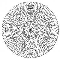Круг с симметричным узором Картинки антистресс раскраски