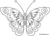 Бабочка Скачать сложные раскраски