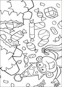 Праздник к нам приходит с обезьянкой Скачать сложные раскраски