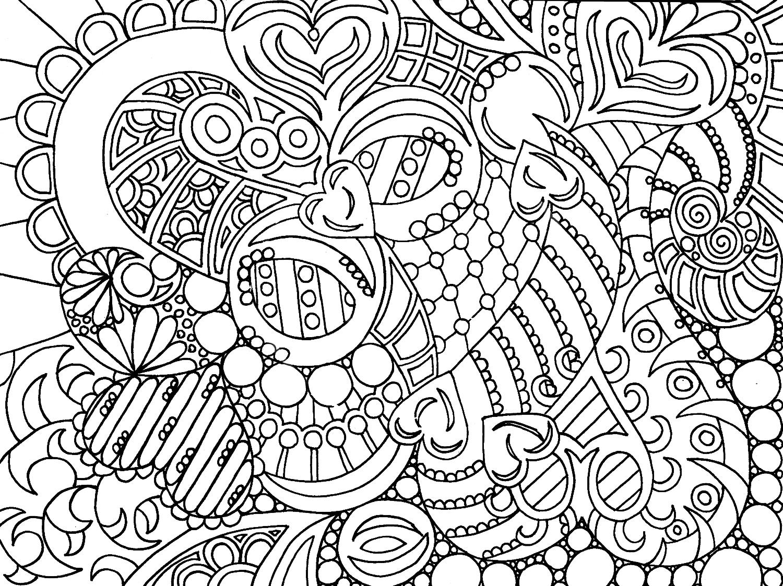 Раскраски очень сложные для взрослых
