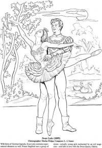 Балерина и балет Раскраски для взрослых антистресс