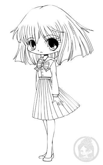 Девочка в стиле аниме Раскраски для взрослых скачать