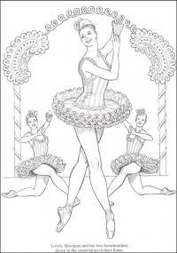 Балерина выступает Раскраски для взрослых скачать