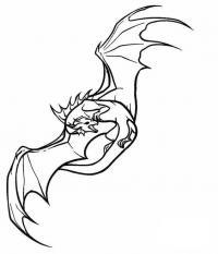 Летающий дракон Раскраски для взрослых скачать