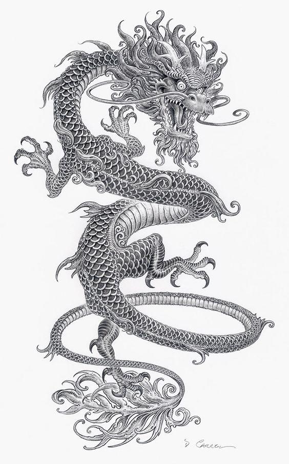 Злой дракон с чешуей и огромной головой с зубастой пастью Раскраски для взрослых скачать