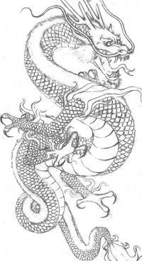 Дракон злой с открытой пастью Раскраски для взрослых скачать