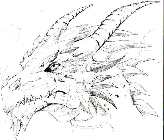 Голова дракона Голова дракона Раскраски антистресс распечататьАнтистресс онлайн