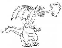 Огнедышащий дракон Раскраски для взрослых скачать
