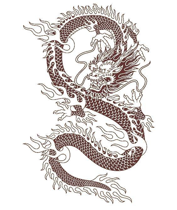 Дракон Длинный змеевидный дракон Раскраски антистресс в хорошем качествеАнтистресс онлайн
