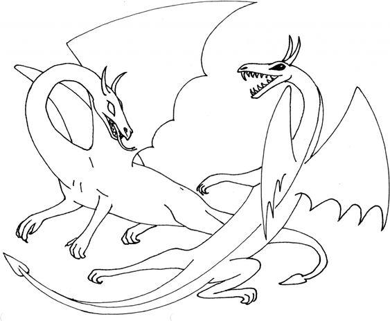 Бой двух драконов Раскраски для взрослых скачать