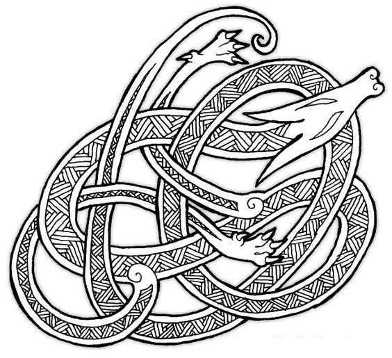 Дракон завязался в узел Раскраски для взрослых скачать