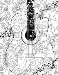 Гитара Раскраски антистресс а4