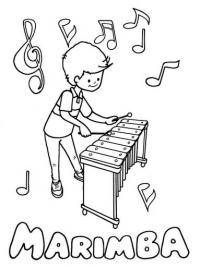 Мальчик играет на мелафоне Раскраски антистресс а4
