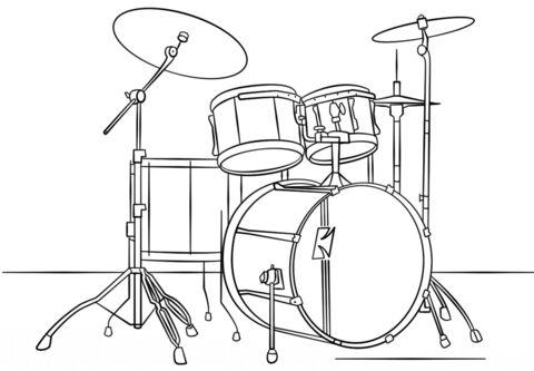Барабаны Раскраски антистресс а4