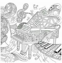Рояль абстракция Раскраски антистресс а4