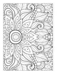 Цветок с тычинками Раскраски для медитации