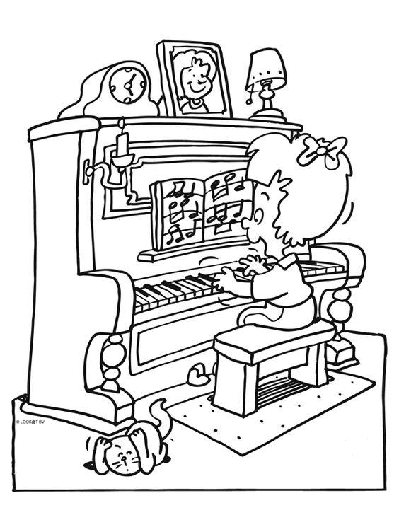 Мальчик играет на пианино Раскраски антистресс а4