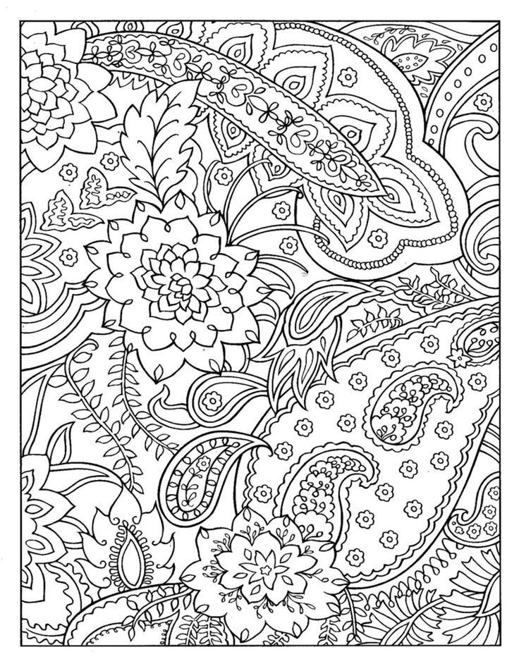 Цветы среди травы Раскраски для медитации