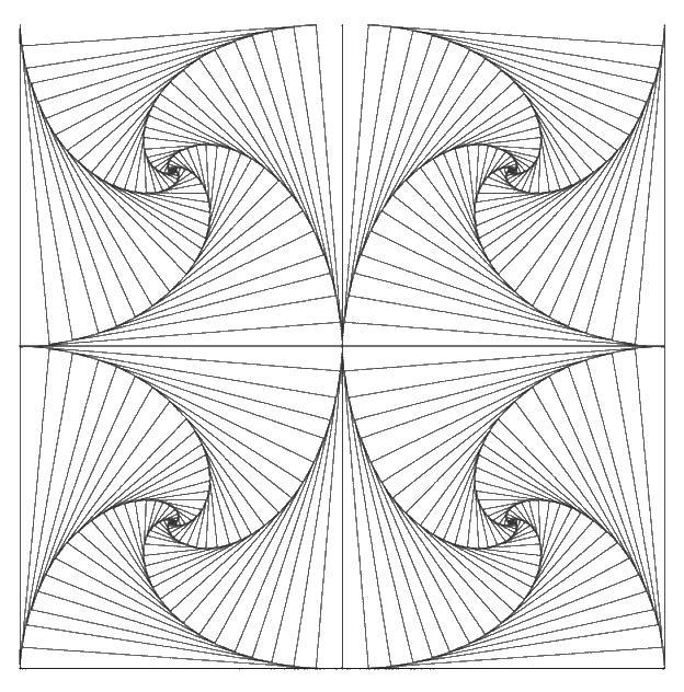 Узор из веера Раскраски для медитации