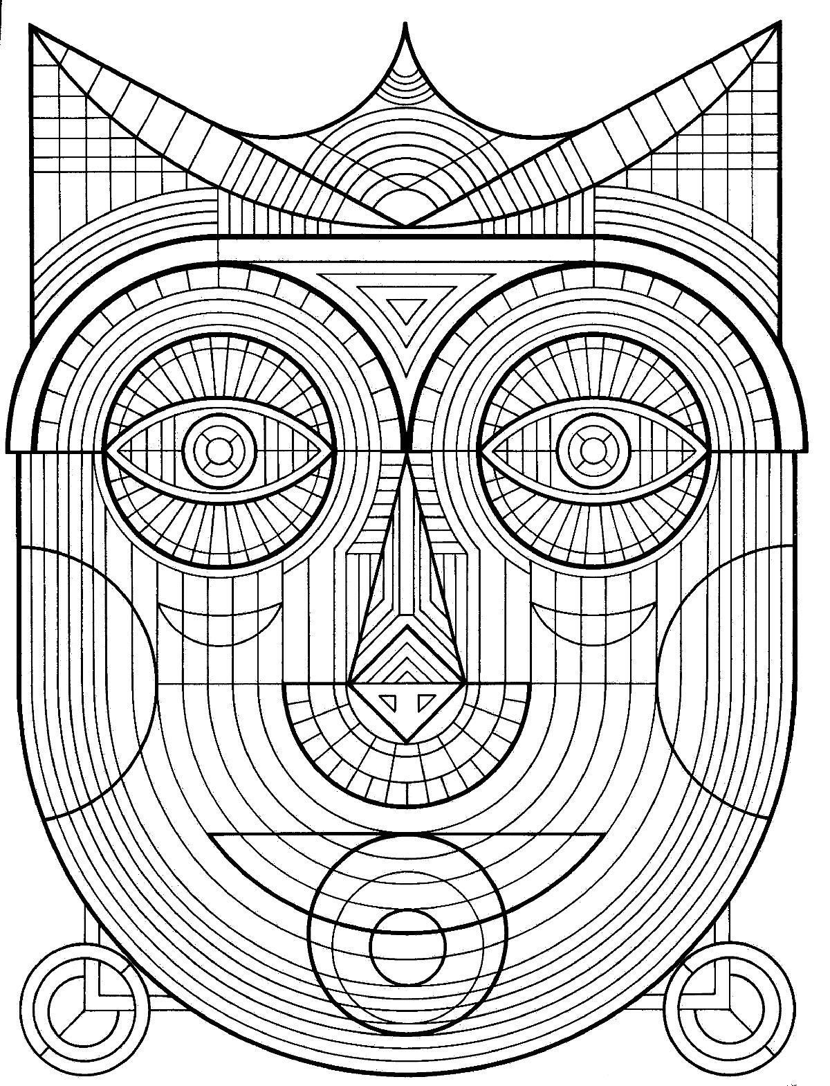 Лицо Раскраски для медитации