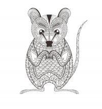 Мышка Раскраски антистресс бесплатно