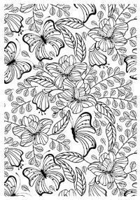 Мир цветов Раскраски для медитации