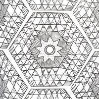 Узор и звезда Раскраски для медитации