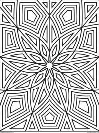 Геометрический узор Раскраски антистресс распечатать