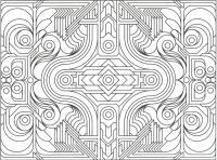 Узор из геометрических фигур Раскраски антистресс распечатать