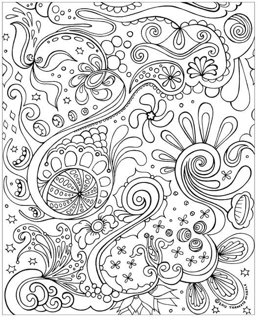 Цветы Раскраски антистресс распечатать