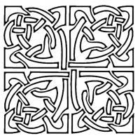 Квадратный узор Раскраски антистресс распечатать