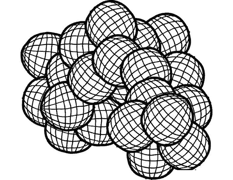 3d шары Онлайн раскраски в хорошем качестве антистресс